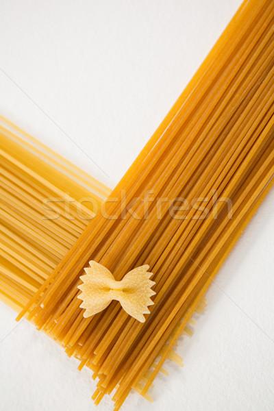 Foto d'archivio: Primo · piano · spaghetti · pasta · cena · vacanze · pranzo