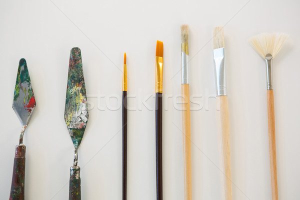 Palette Messer malen Zeile Bildung Tool Stock foto © wavebreak_media