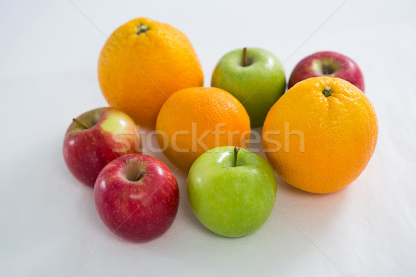 Close-up of oranges, red apples and green apples Stock photo © wavebreak_media