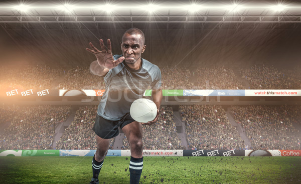 Imagen agresivo rugby jugador Foto stock © wavebreak_media