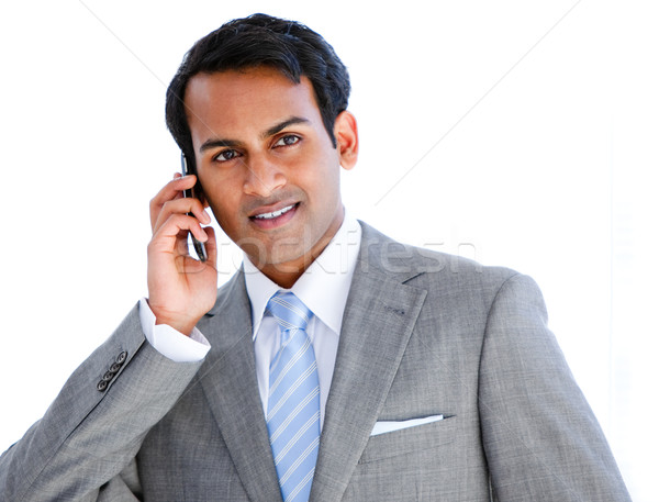 Happy businessman taking a phone call  Stock photo © wavebreak_media
