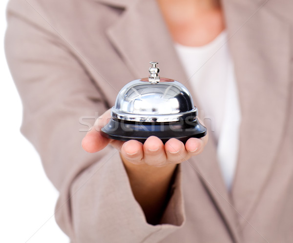 Focus службе колокола белый бизнеса женщину Сток-фото © wavebreak_media