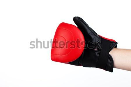 Yalıtılmış atış adam boks eldivenleri Stok fotoğraf © wavebreak_media