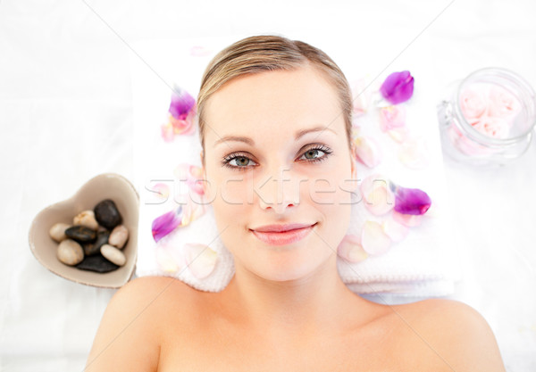 Close-up of a cute woman lying on a massage table Stock photo © wavebreak_media