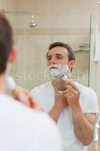 Man badkamer gezicht home jongen huid Stockfoto © wavebreak_media