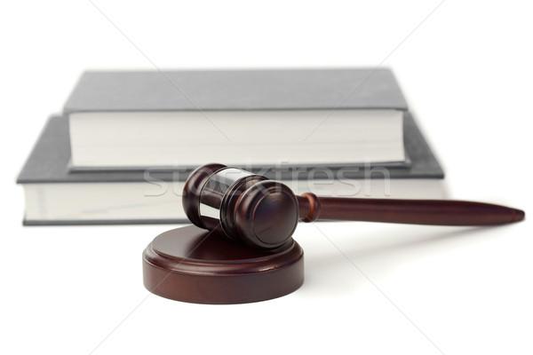 Gabela cinza livros branco madeira lei Foto stock © wavebreak_media
