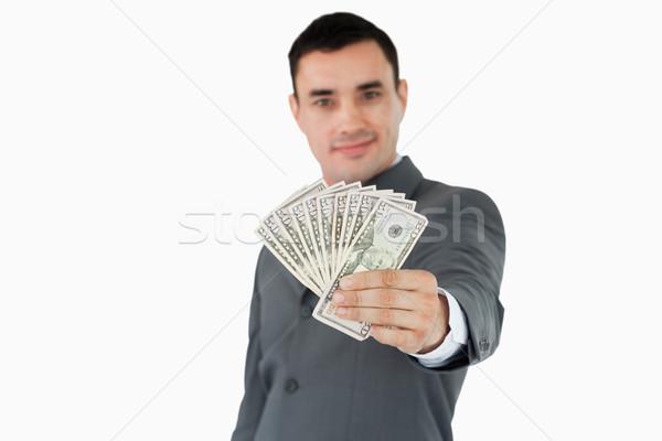 Işadamı banka notlar beyaz iş Stok fotoğraf © wavebreak_media