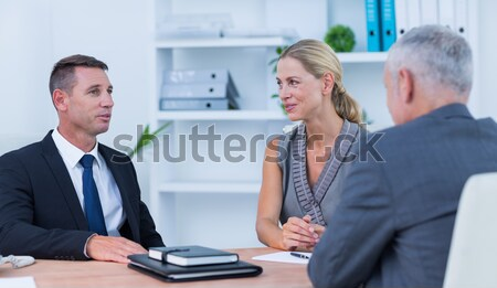 Young businessman with his mentor Stock photo © wavebreak_media