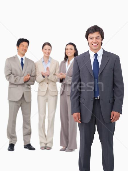 Sprzedawca koledzy biały biznesmen garnitur firmy Zdjęcia stock © wavebreak_media