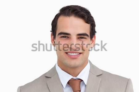 Sorridente vendedor branco homem feliz Foto stock © wavebreak_media