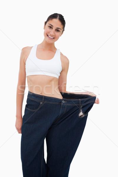Brunetka stracił masy biały stałego diety Zdjęcia stock © wavebreak_media