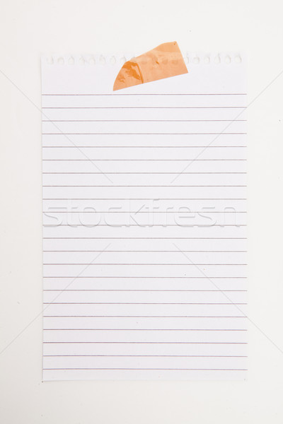 Paper blank with adhesive tape against a white background Stock photo © wavebreak_media