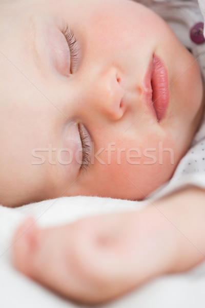 Cute baby bed slapen heldere kamer Stockfoto © wavebreak_media