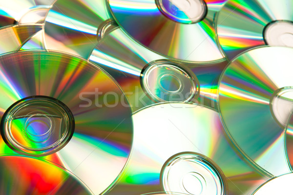 Music cd piled up against a white background Stock photo © wavebreak_media
