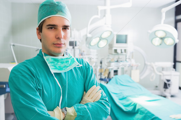 Surgeon with arms crossed in an operating theatre Stock photo © wavebreak_media