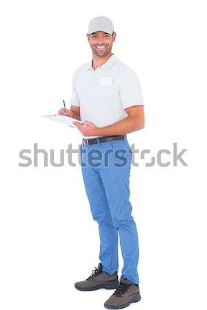 Stockfoto: Chef · uniform · permanente · hand · taille