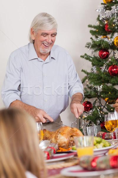 Nagyapa karácsony Törökország vacsora gyermek otthon Stock fotó © wavebreak_media