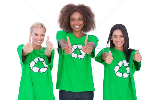 Feliz grupo blanco mujer retrato Foto stock © wavebreak_media