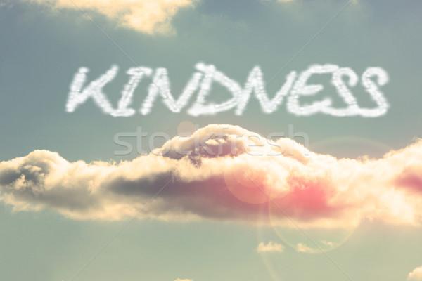 Amabilidad brillante cielo azul nube palabra sol Foto stock © wavebreak_media