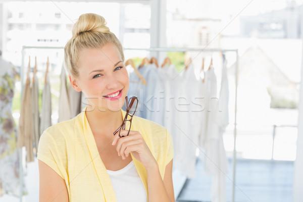 Retrato belo feminino moda estilista cremalheira Foto stock © wavebreak_media