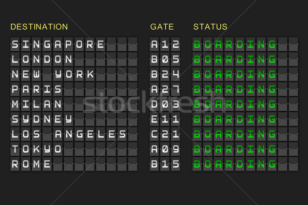 Salidas lista negro mecánico bordo digitalmente Foto stock © wavebreak_media