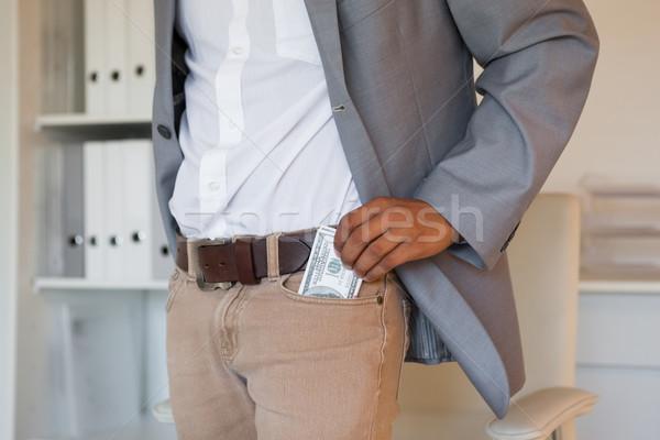 üzletember dollár iroda üzlet profi férfi Stock fotó © wavebreak_media