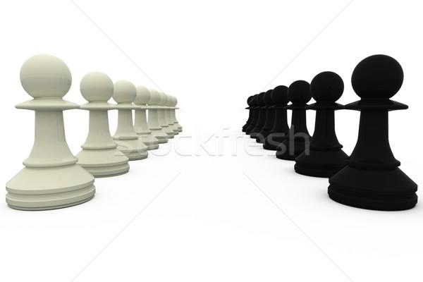 Blanco negro blanco ajedrez negro Foto stock © wavebreak_media