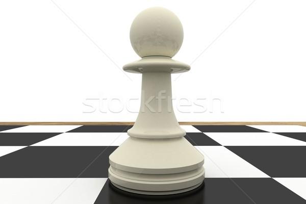 Blanco peón tablero de ajedrez ajedrez digital estrategia Foto stock © wavebreak_media