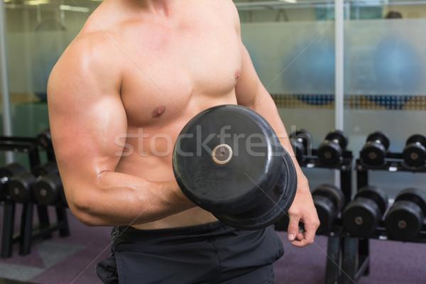 A torso nudo bodybuilder pesante nero Foto d'archivio © wavebreak_media