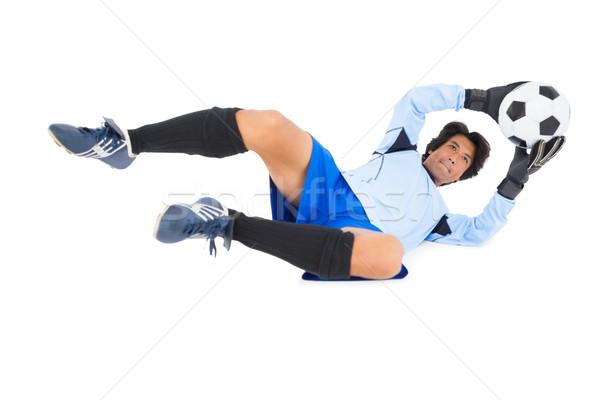 Kapus kék készít mentés fehér férfi Stock fotó © wavebreak_media
