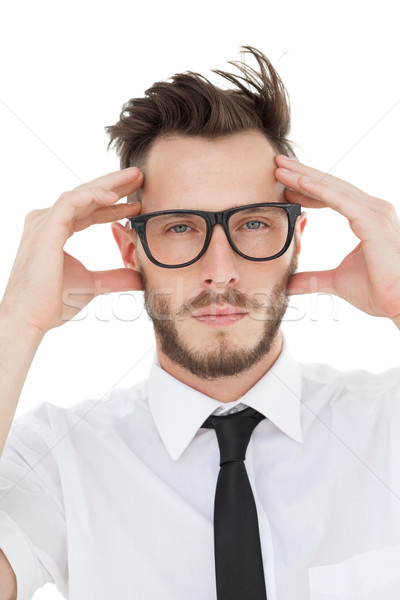 Nerdy businessman getting a headache Stock photo © wavebreak_media