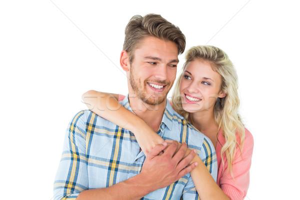привлекательный пару улыбаясь белый человека Сток-фото © wavebreak_media