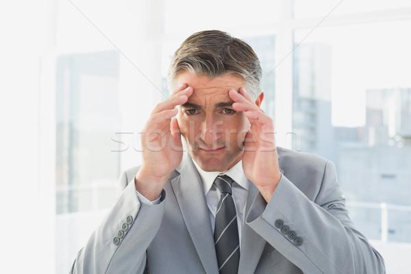 бизнесмен страдание головная боль работу бизнеса служба Сток-фото © wavebreak_media