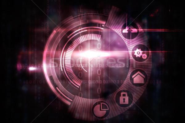 Pembe teknoloji kadran arayüz dizayn siyah Stok fotoğraf © wavebreak_media