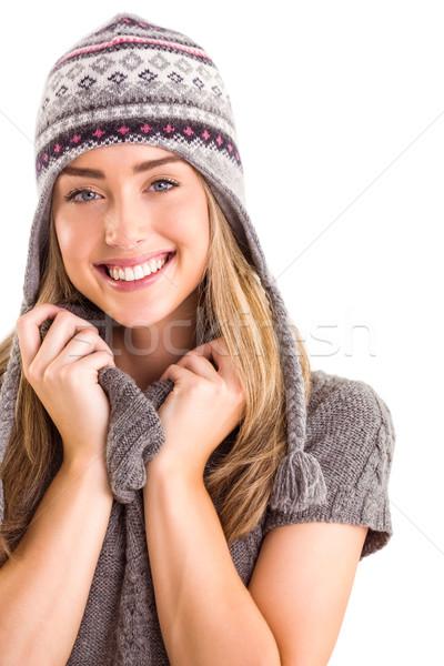 Happy blonde in winter clothes posing Stock photo © wavebreak_media