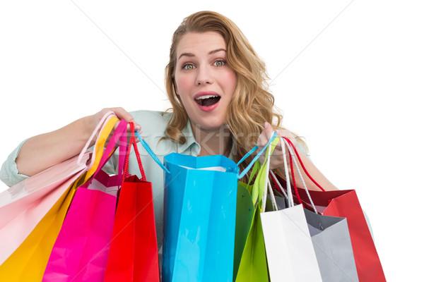 Jonge vrouw witte gelukkig schoonheid Stockfoto © wavebreak_media