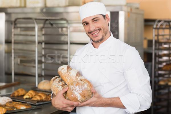Piekarz kuchnia piekarni Zdjęcia stock © wavebreak_media