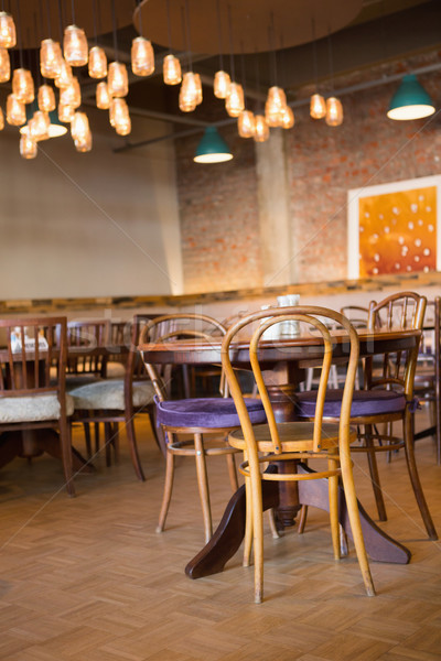 Kávéház székek pékség üzlet étterem asztal Stock fotó © wavebreak_media