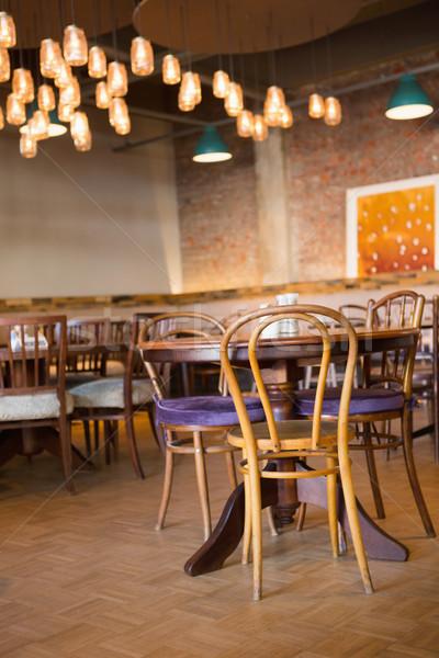 Coffee shop sedie panetteria business ristorante tavola Foto d'archivio © wavebreak_media