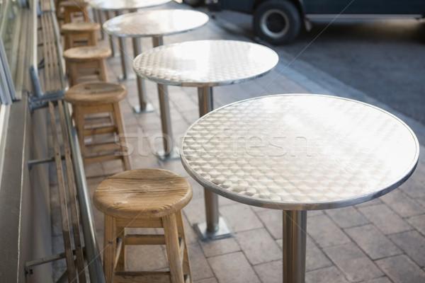 Elegáns bár zsámoly asztal pékség Stock fotó © wavebreak_media