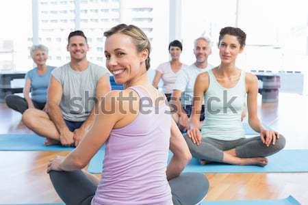 Istruttore classe fitness club ritratto Foto d'archivio © wavebreak_media