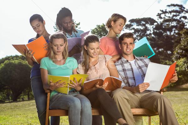 студентов изучения за пределами кампус женщину Сток-фото © wavebreak_media