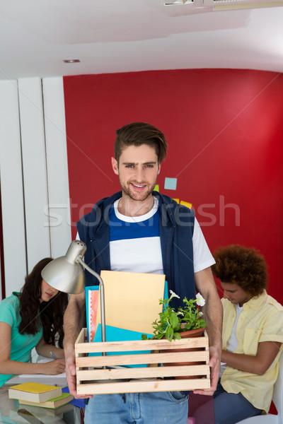 Gündelik işadamı kutu portre yakışıklı Stok fotoğraf © wavebreak_media