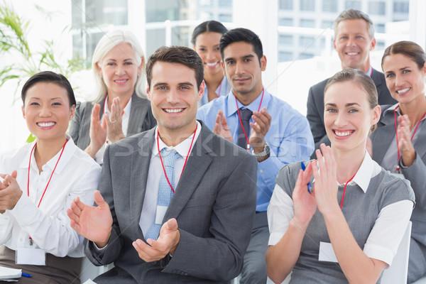 Zdjęcia stock: Ludzi · biznesu · spotkanie · biuro · kobieta · człowiek