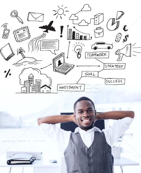 Afbeelding grafische zakenman Stockfoto © wavebreak_media