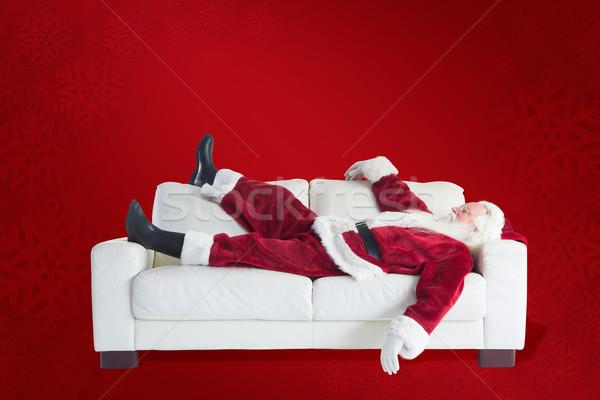Imagen papá noel toma siesta rojo Foto stock © wavebreak_media