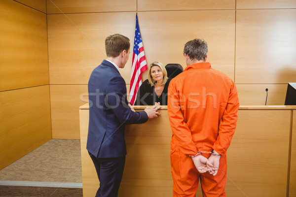 Advogado juiz criminal algemas tribunal Foto stock © wavebreak_media