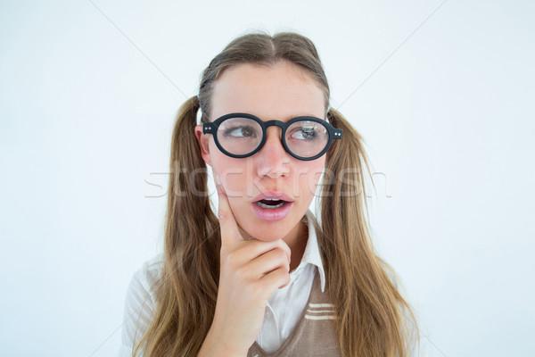 Femenino mirando confundirse blanco moda Foto stock © wavebreak_media