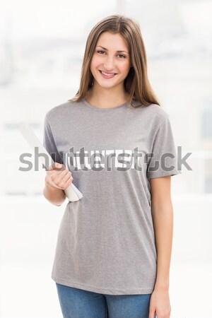 Vér donor mutat remek fehér boldog Stock fotó © wavebreak_media