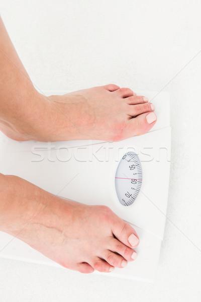 Ayaklar terazi beyaz kadın kadın tırnak Stok fotoğraf © wavebreak_media